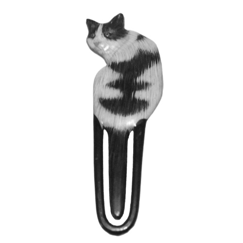 Black-and-White-Cat-Bookmark