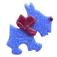 Lilac Scottie Dog Lea Stein Brooch